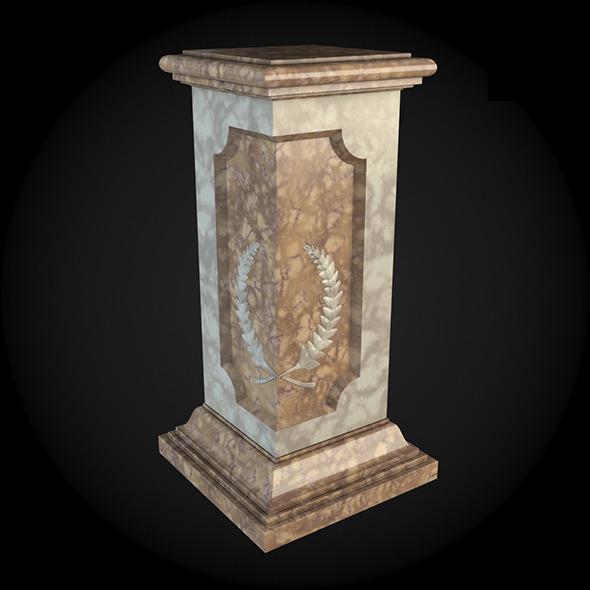 Pedestal 023 - 3DOcean Item for Sale