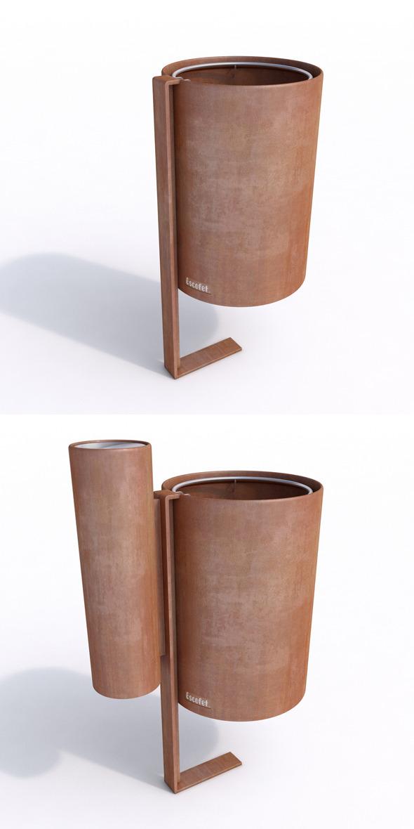 3DOcean Litter Bin and Ashtray- Escofet MORELLA 6243895