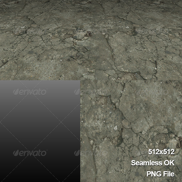 3DOcean Ground Road Texture Tile001 6244130