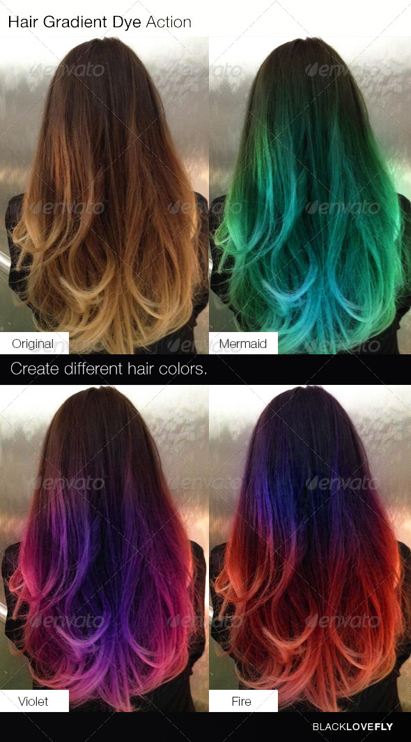 GraphicRiver Hair Gradient Dye Action 6244284