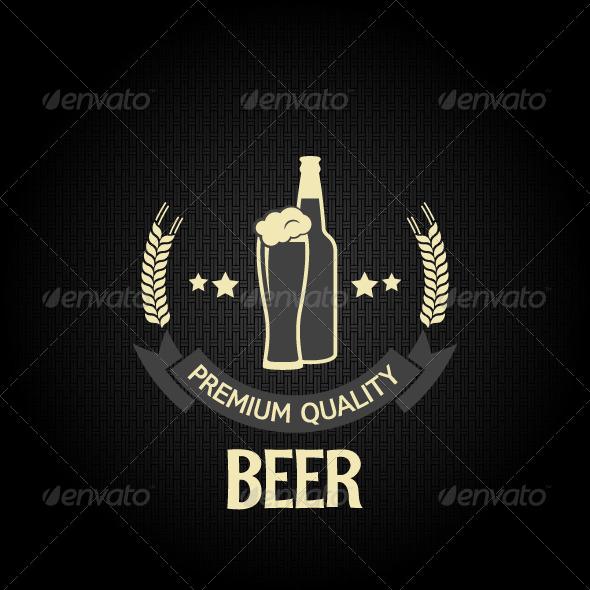 GraphicRiver Beer Glass Bottle Dark Background 6244438