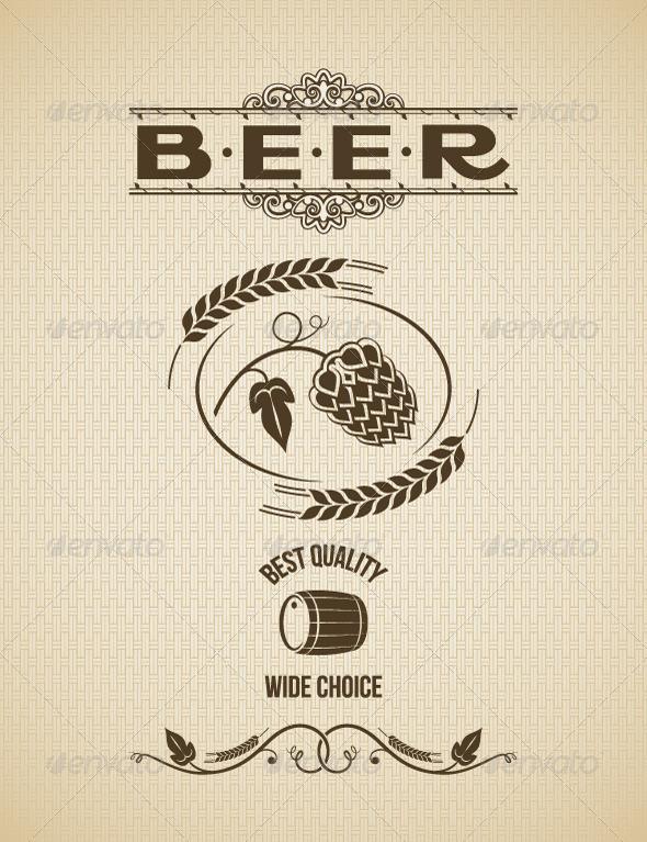 Beer Vintage Label Design Background