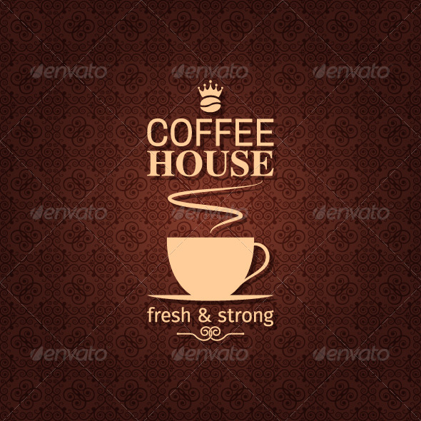 Coffee Vintage Pattern Background