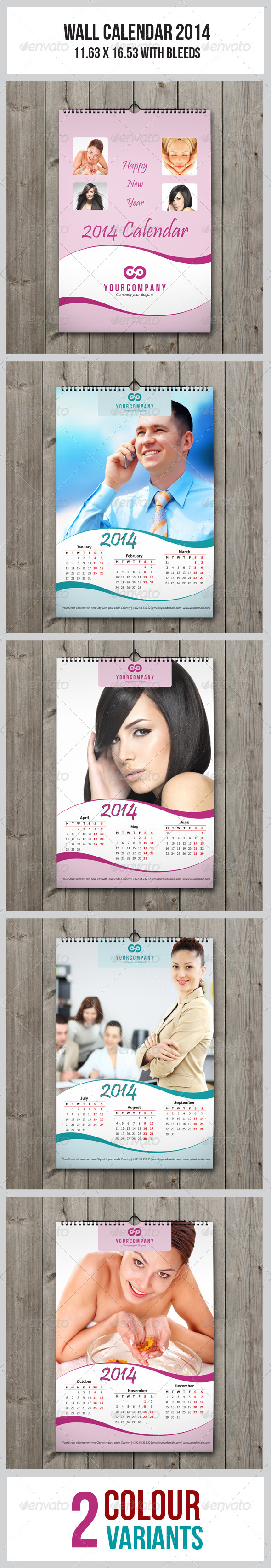 Wall Calendar 2014 - Calendars Stationery