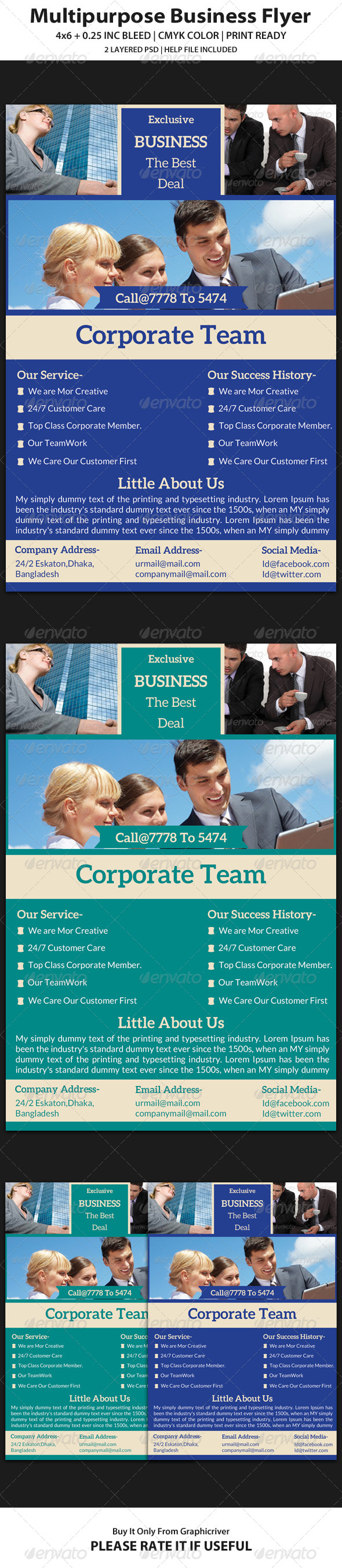 Business Flyer Template 13 - Corporate Flyers