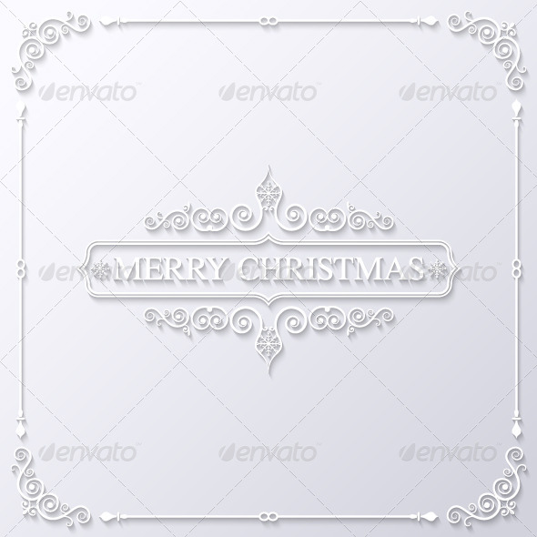 GraphicRiver Christmas Happy New Year Paper Background 6244500