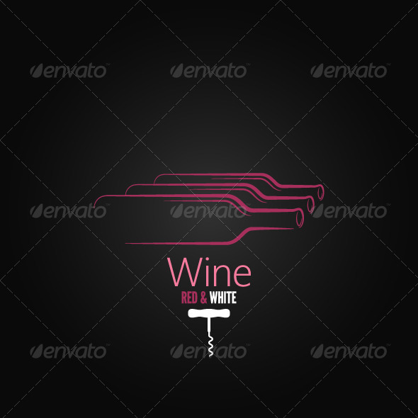 GraphicRiver Wine Bottle Corkscrew Design Background 6244518