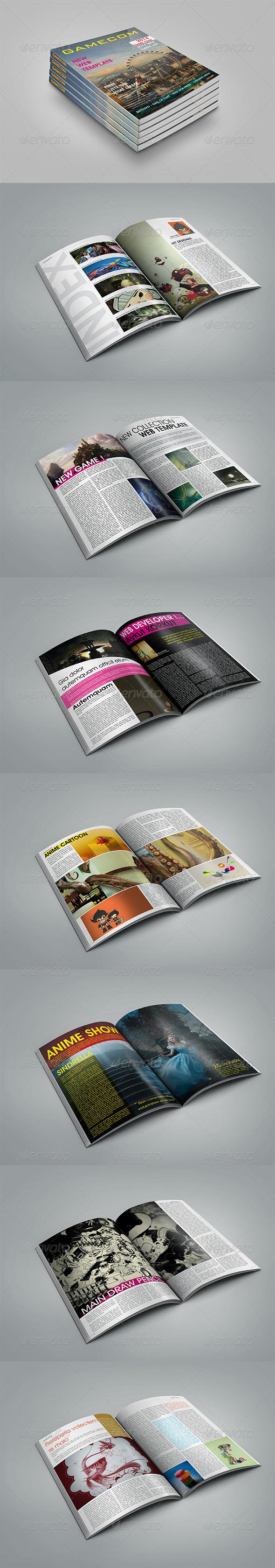 GraphicRiver Gamecom Magazine Template 6244541