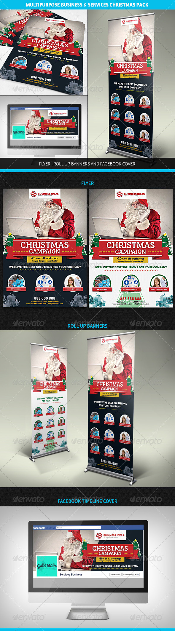 GraphicRiver Multipurpose Corporate Business Christmas Pack 6244546