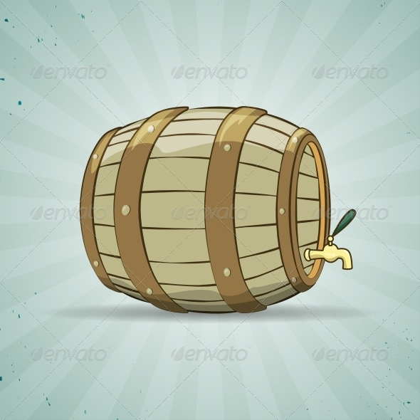 GraphicRiver Wooden Barrel filled with Beer or Wine 6245074