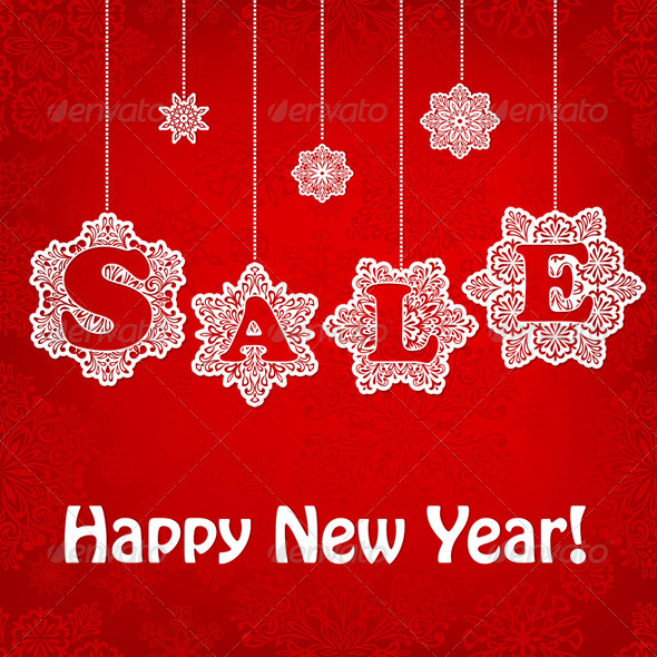 GraphicRiver Vector New Year Sale Placard 6245165