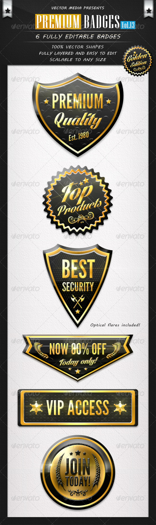 GraphicRiver Premium Badges Vol.13 6245215