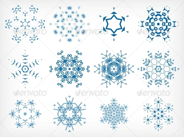 GraphicRiver Set of Isolated Snowflakes for Christmas Decor 6245538