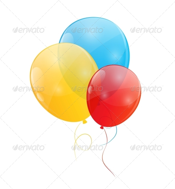 GraphicRiver Color Glossy Balloons Background 6245765