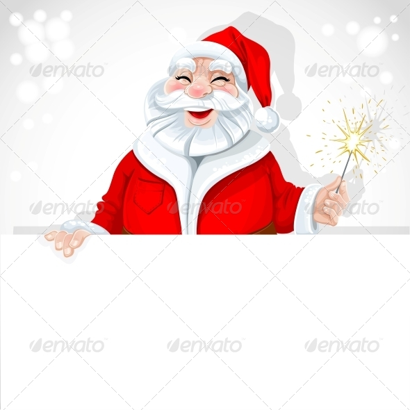 GraphicRiver Santa Claus Holding Large Horizontal Banner 6245775