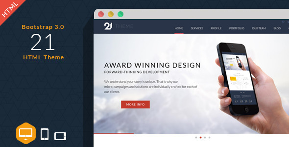 21 - Multipurpose HTML Theme - Portfolio Creative