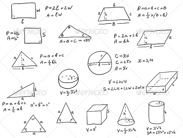 GraphicRiver Hand Written Geometry Formulas 6245898