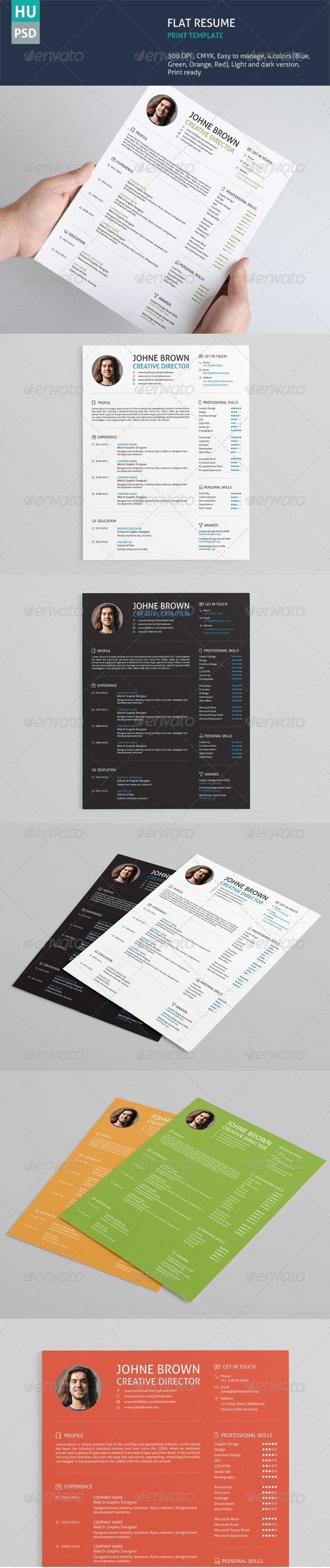 GraphicRiver Flat Resume 6245980