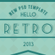 Retro New Psd Template - ThemeForest Item for Sale