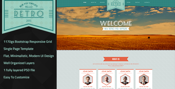 Retro New Psd Template