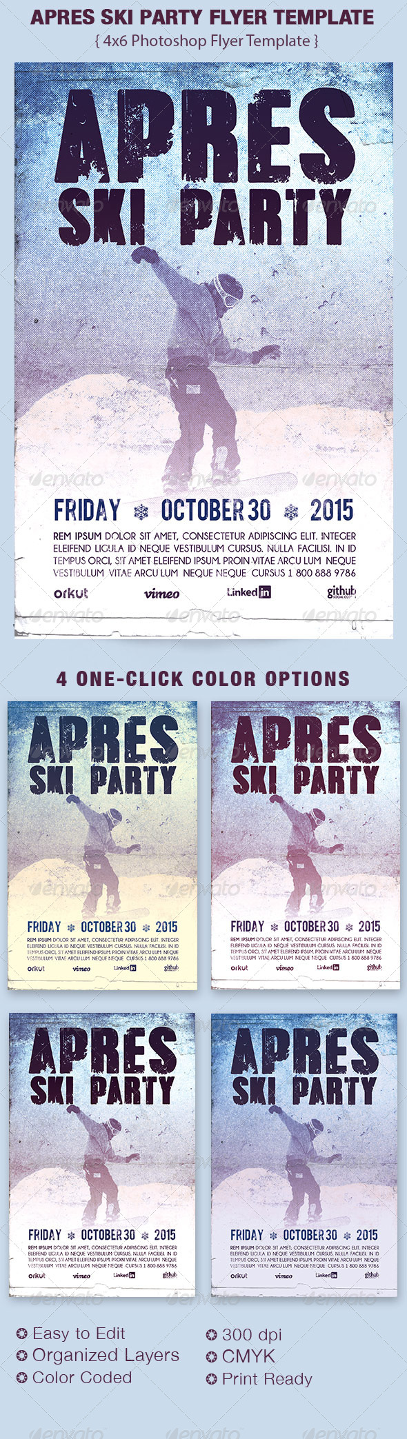 GraphicRiver Apres Ski Party Flyer Template 6246308