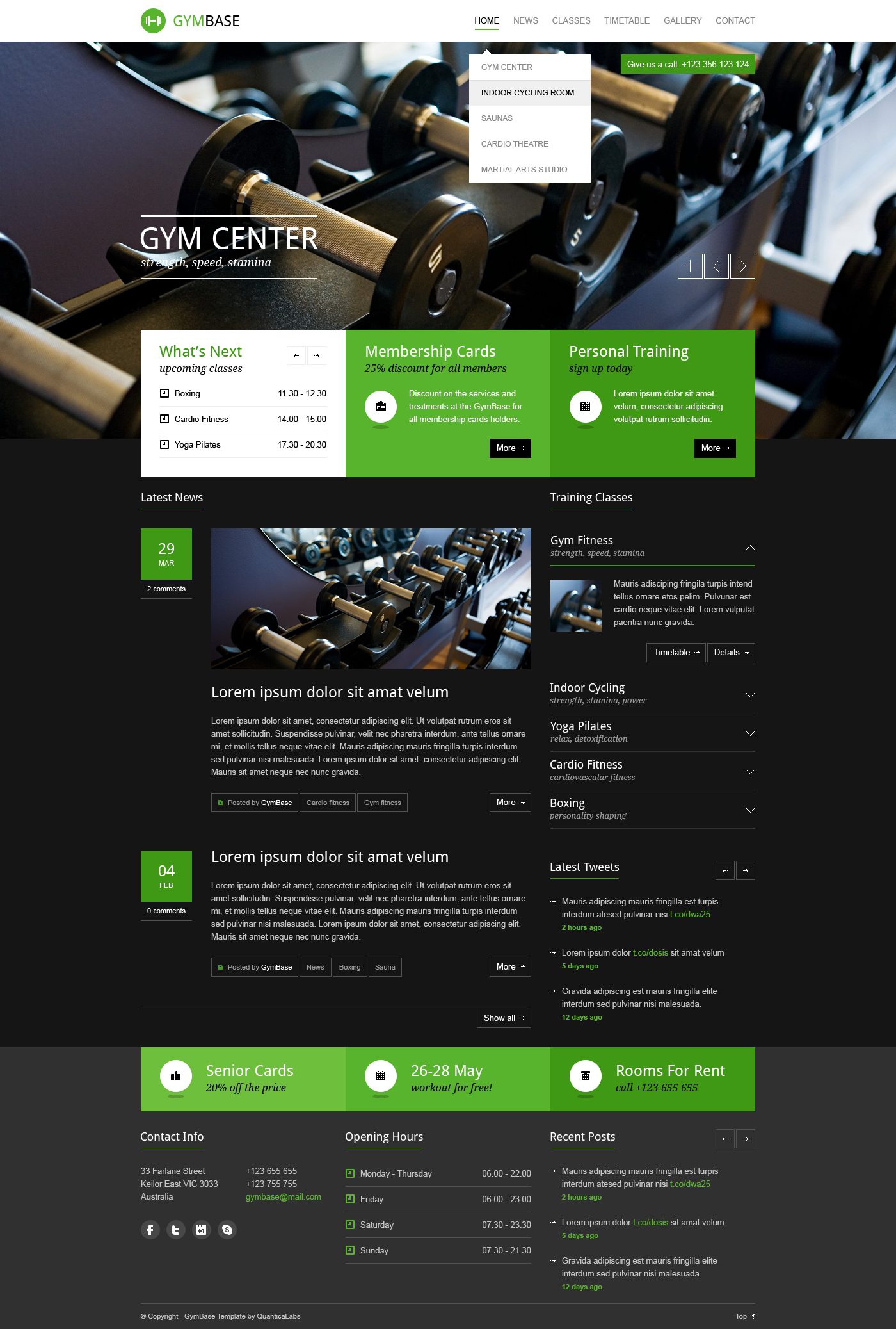 GymBase - Gym Fitness PSD Template