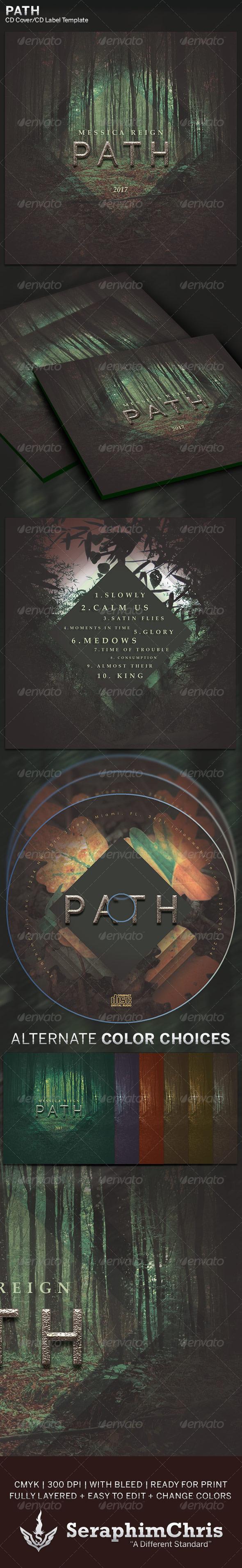 GraphicRiver Path CD Cover Artwork Template 6246320