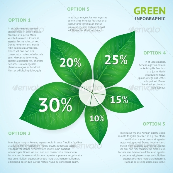 Eco Green Infographics Concept
