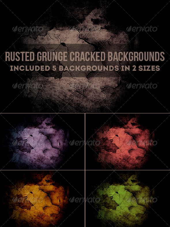 GraphicRiver Rusted Grunge Cracked Backgrounds 6246450