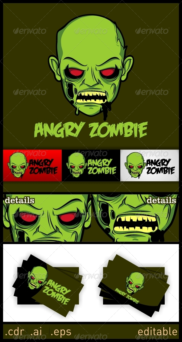 GraphicRiver Angry Zombie Logo 6246460