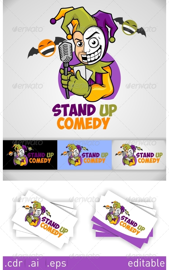 GraphicRiver Stand Up Comedy Logo 6246654