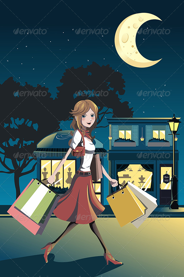 GraphicRiver Shopping Woman 6247188