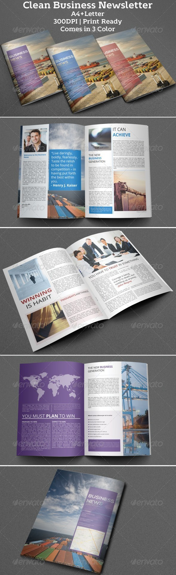GraphicRiver Clean Business Newsletter 6247343