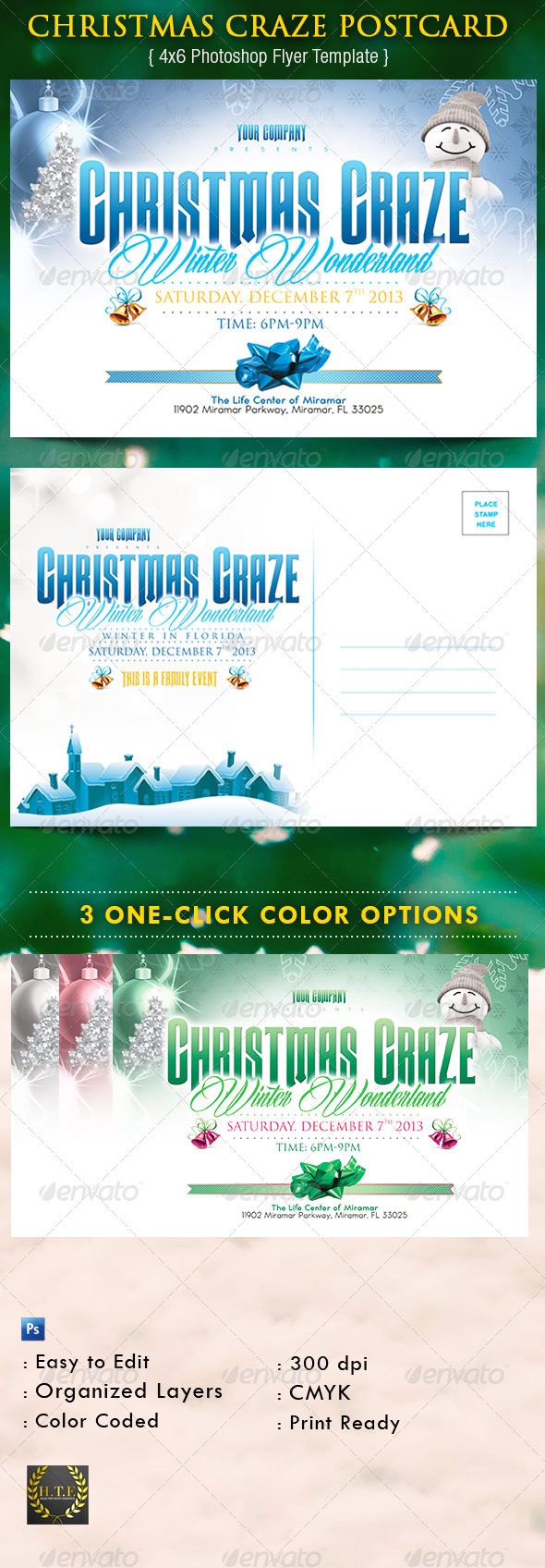 GraphicRiver Christmas Craze Postcard 6247708