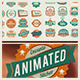 Retro Stickers - VideoHive Item for Sale