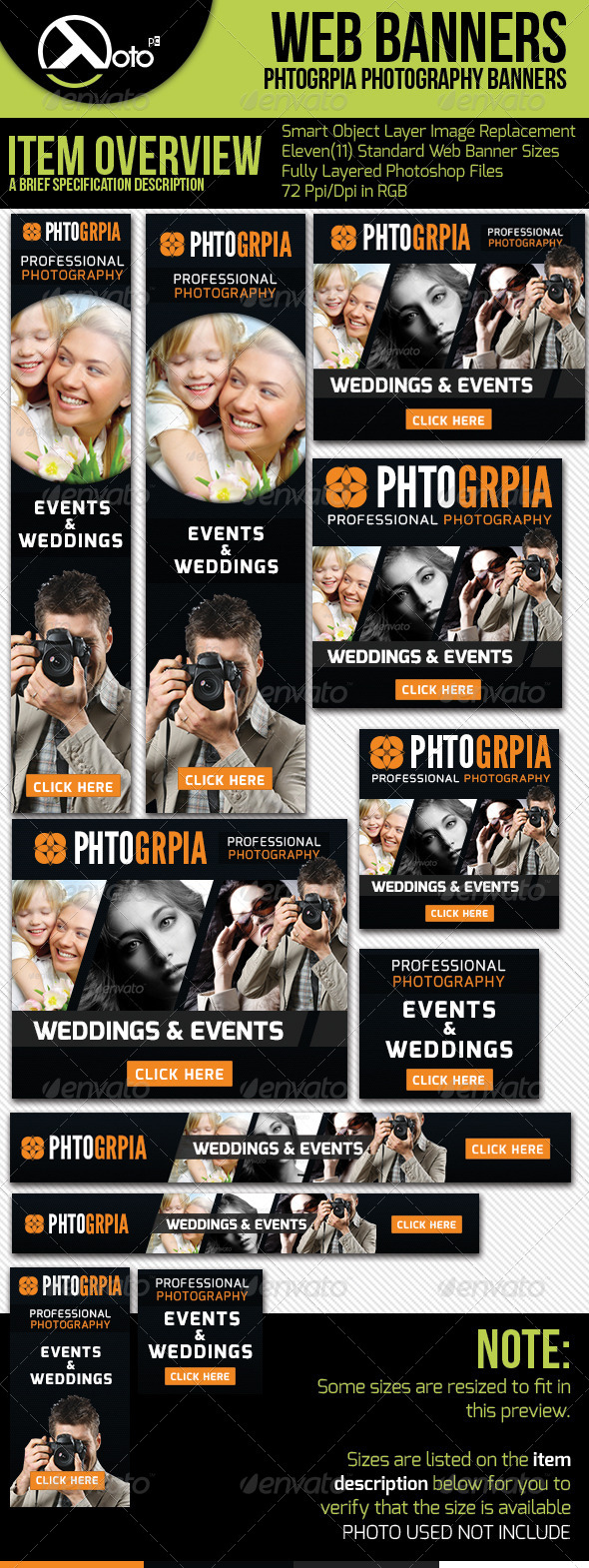 Photographia Professional Photography Web Banners