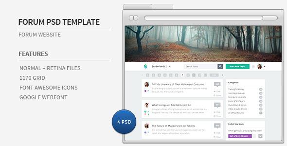 ThemeForest Forum Website PSD Template 6211151