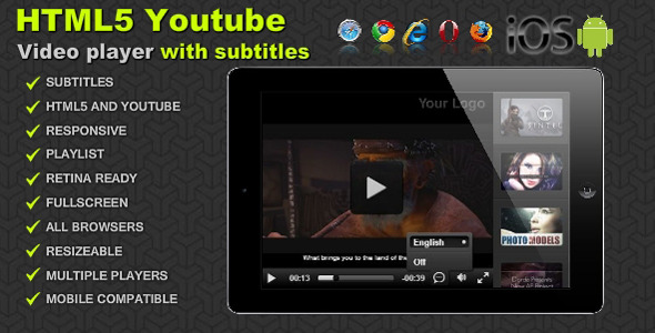 CodeCanyon HTML5 Youtube video player with subtitles 6247972