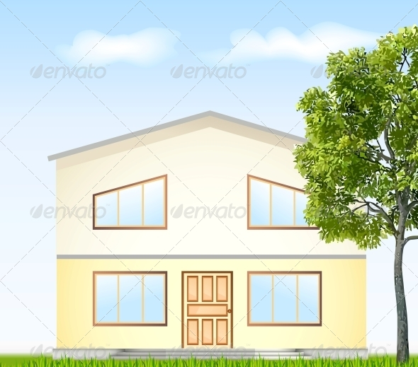 GraphicRiver Facade with Tree 6248224