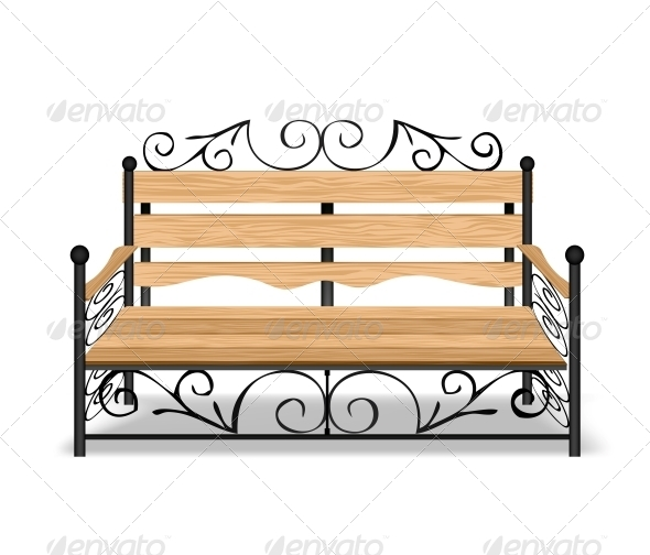 GraphicRiver Classical Park Bench 6248232