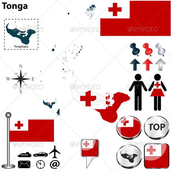 GraphicRiver Map of Tonga 6248324