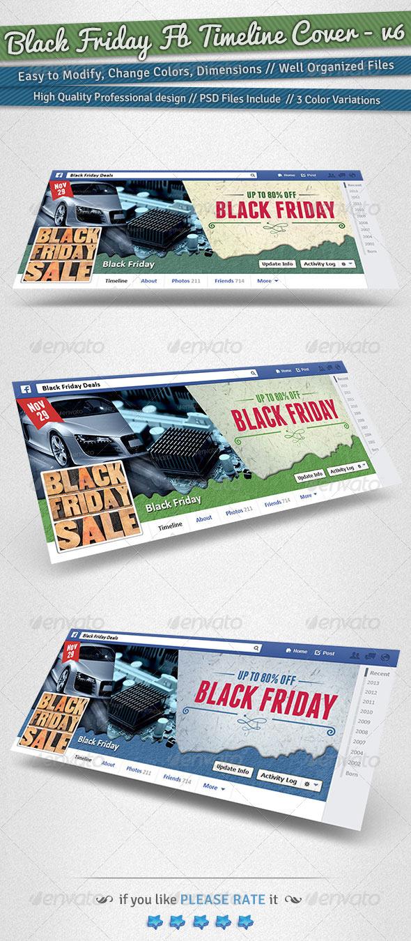 GraphicRiver Black Friday Facebook Timeline Cover Volume 6 6248474