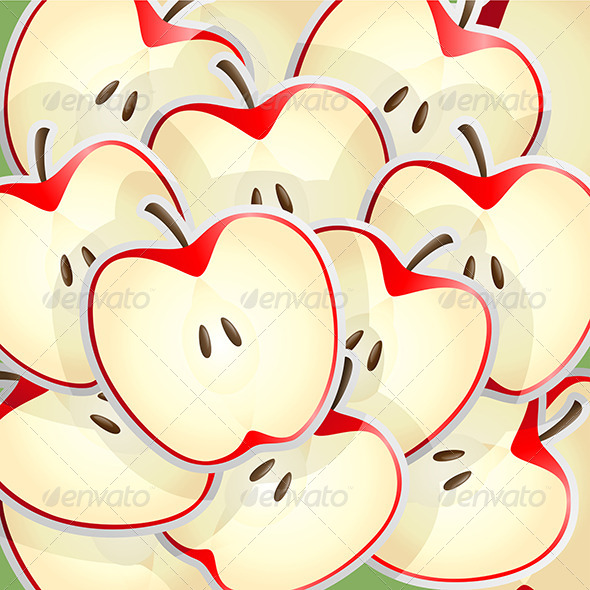 GraphicRiver Apples Slices Pattern 6248549