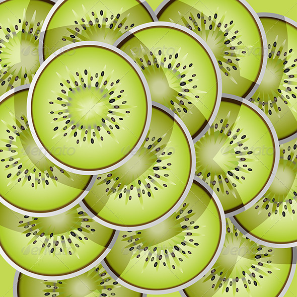 GraphicRiver Kiwi Slices Pattern 6248563