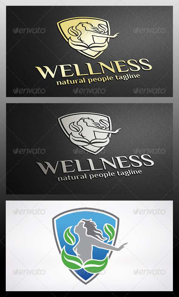 GraphicRiver Shield Woman Logo 6248574