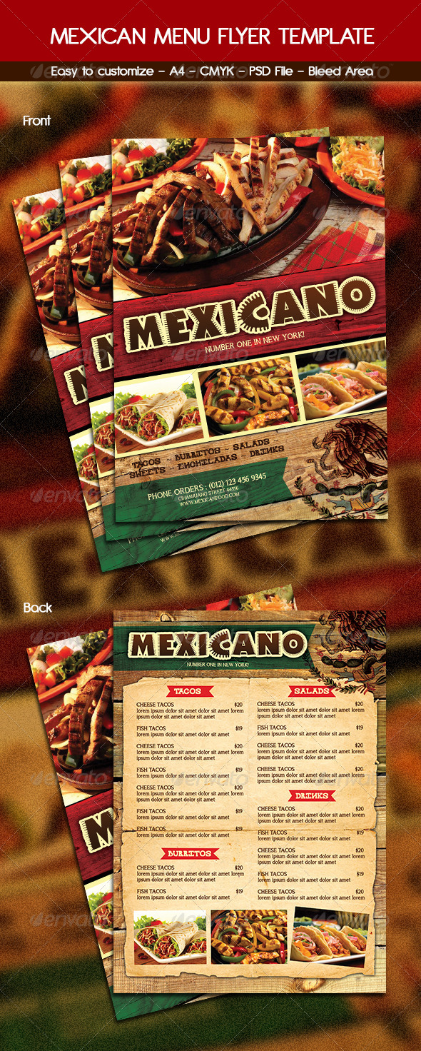 GraphicRiver Mexican Food Menu 6248871