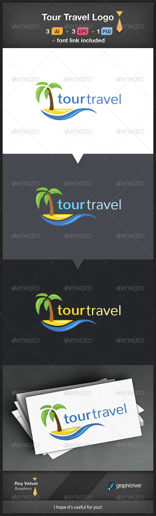 GraphicRiver Tour Travel Logo 6249974
