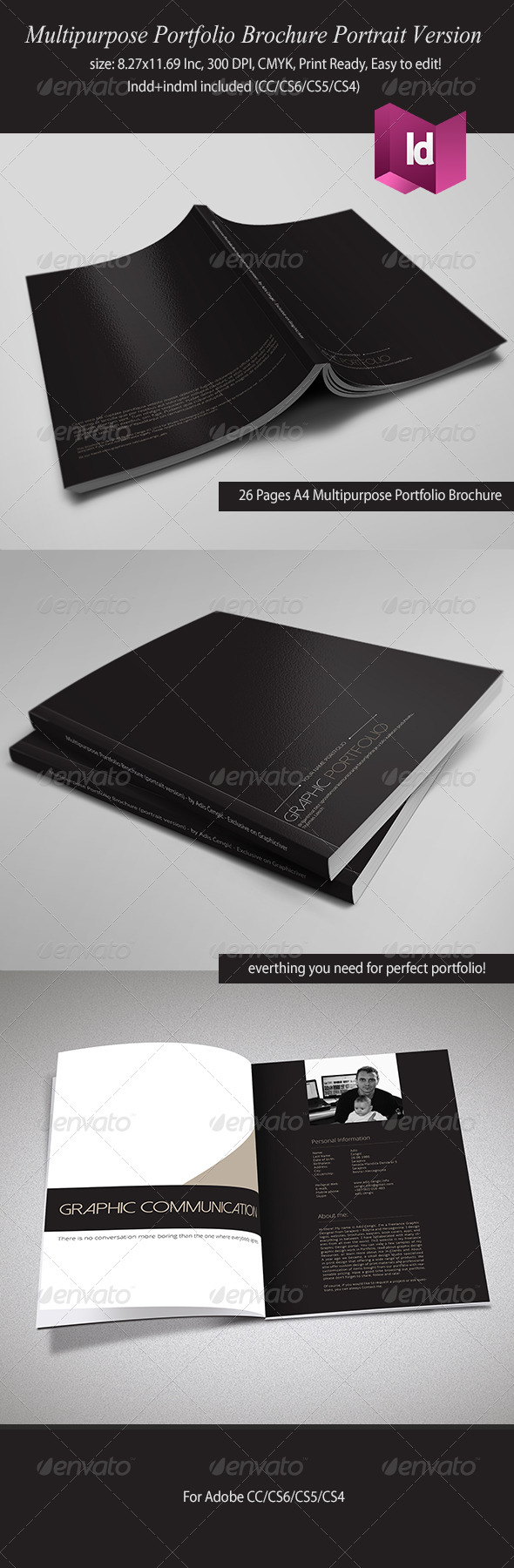 GraphicRiver Multipurpose Portfolio Brochure Portrait Version 6250154