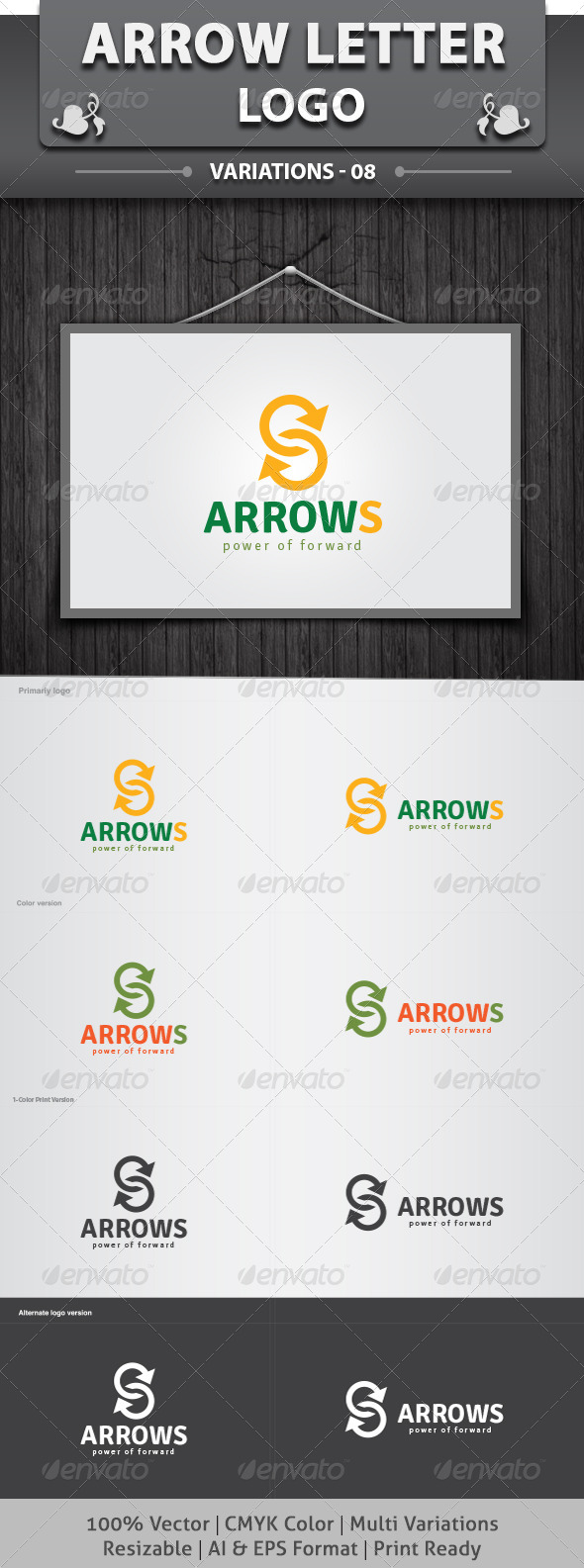 ArrowS Logo - Letters Logo Templates