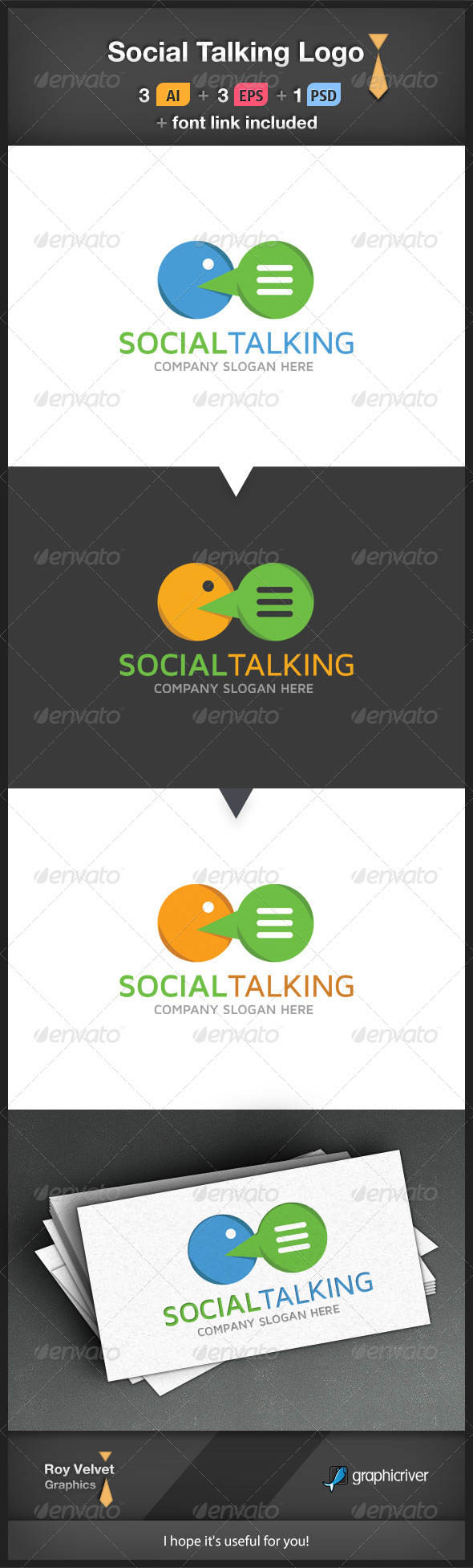 GraphicRiver Social Talking Logo 6250520